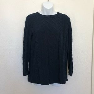 J JillNavy Blue Cable Knit Sweater